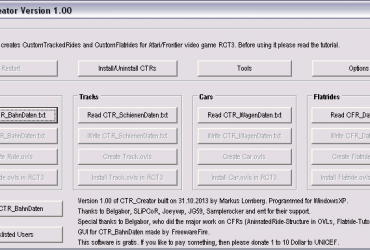 CTR_Creator V1.00 and additional information (English)